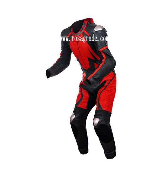 Mens Leather Woven Suits For Motorcycle Wear