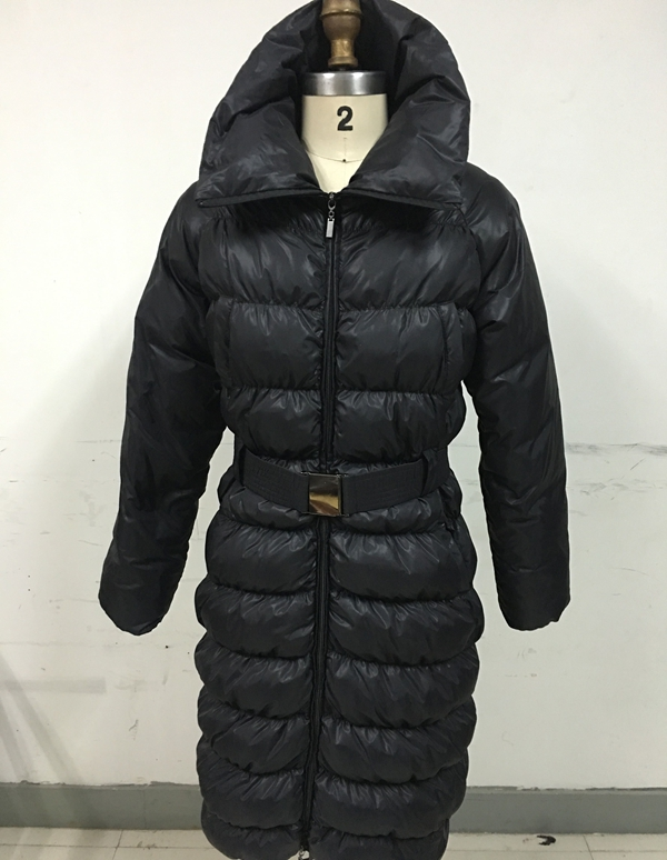 Ladies Down Coat With High Collar