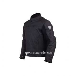 Mens Leather Woven Jackets