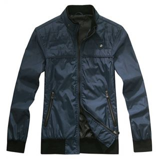 Mens Woven Jacket With Quilting
