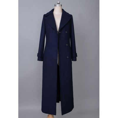Ladies Wool/Polyester Woven Coats
