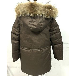 Mens Hooded Down Coat With Foxfeather